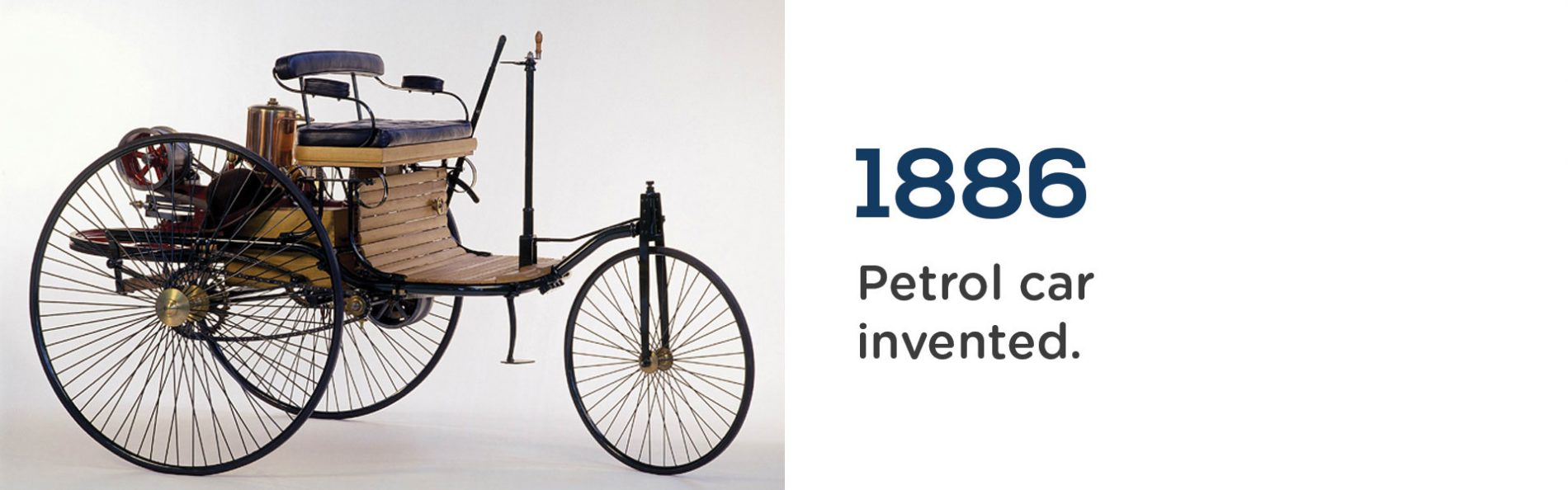 The first petrol car was invented in 1886 by Karl Benz. Wrigley Claydon Solicitors, Trusted for 200 years