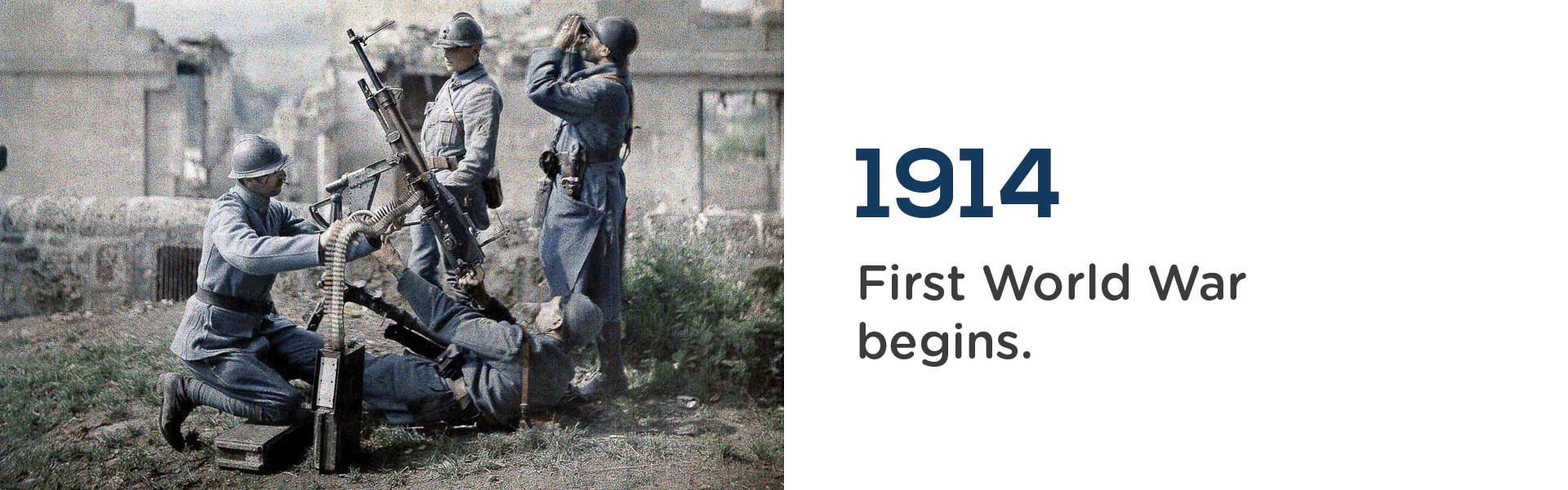 The First World War begins in 1914.Wrigley Claydon Solicitors, Trusted for 200 years