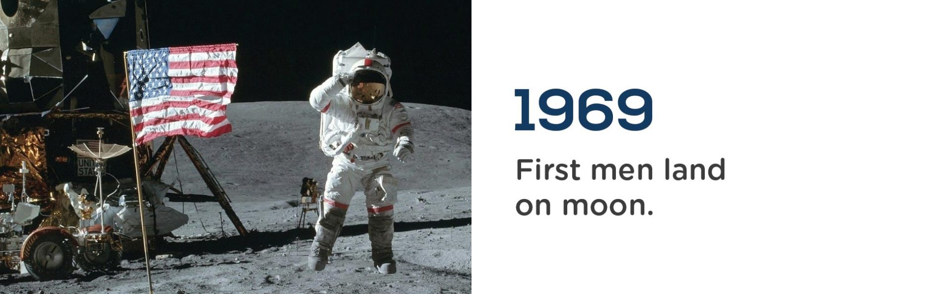 Neil Armstong became the first man to land on the moon in 1969.Wrigley Claydon Solicitors, Trusted for 200 years