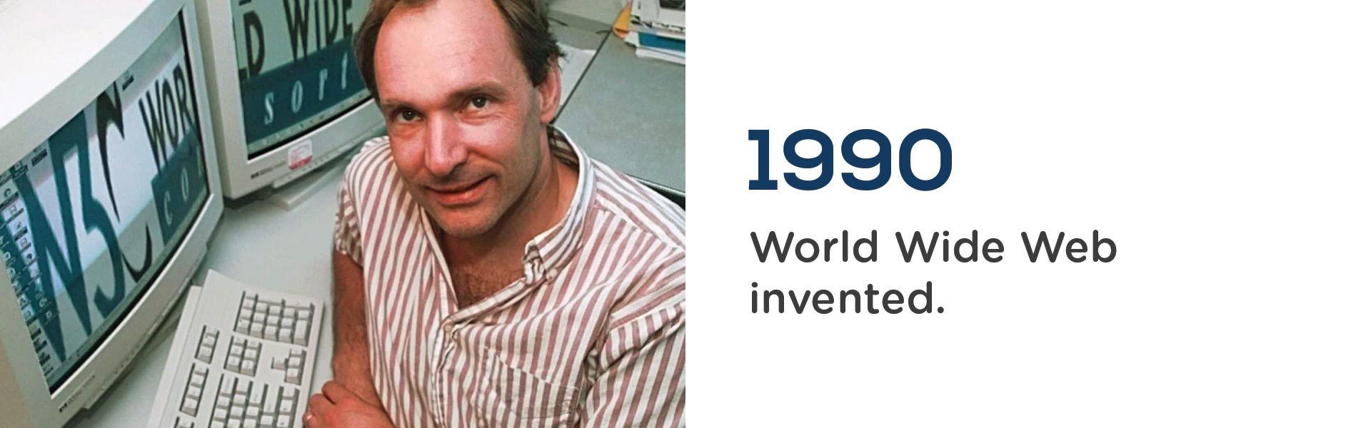 Sr Ti Berners Lee invented the World Wide Web in 1990.Wrigley Claydon Solicitors, Trusted for 200 years