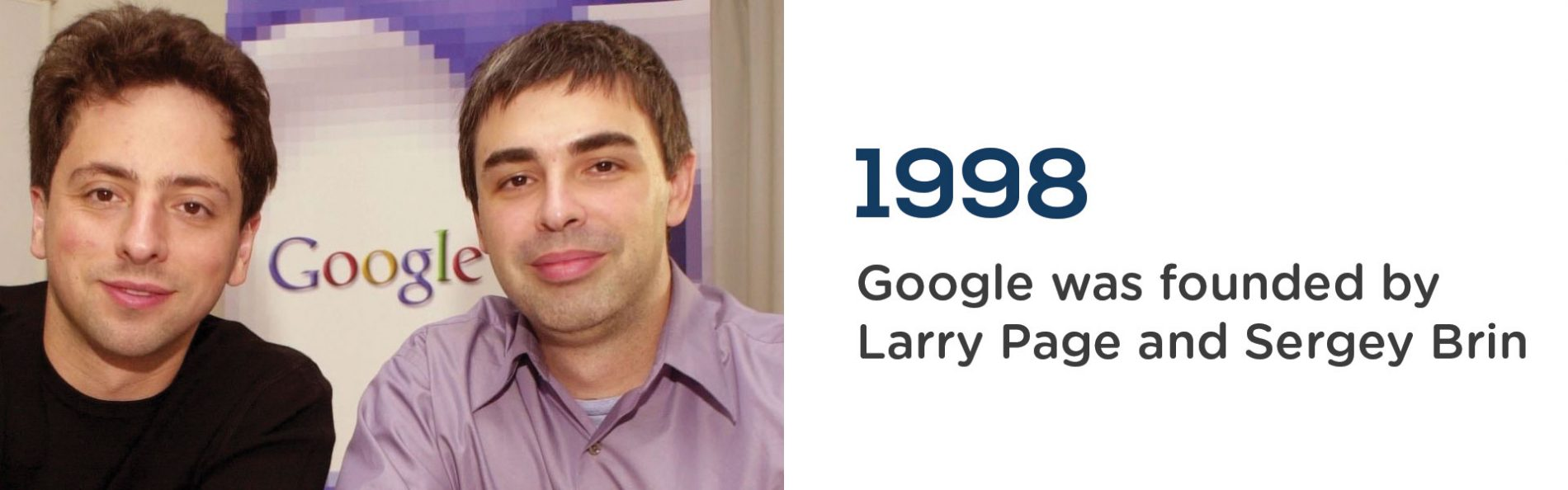 Google was founded in 1998 by Larry Page and Sergey Brin