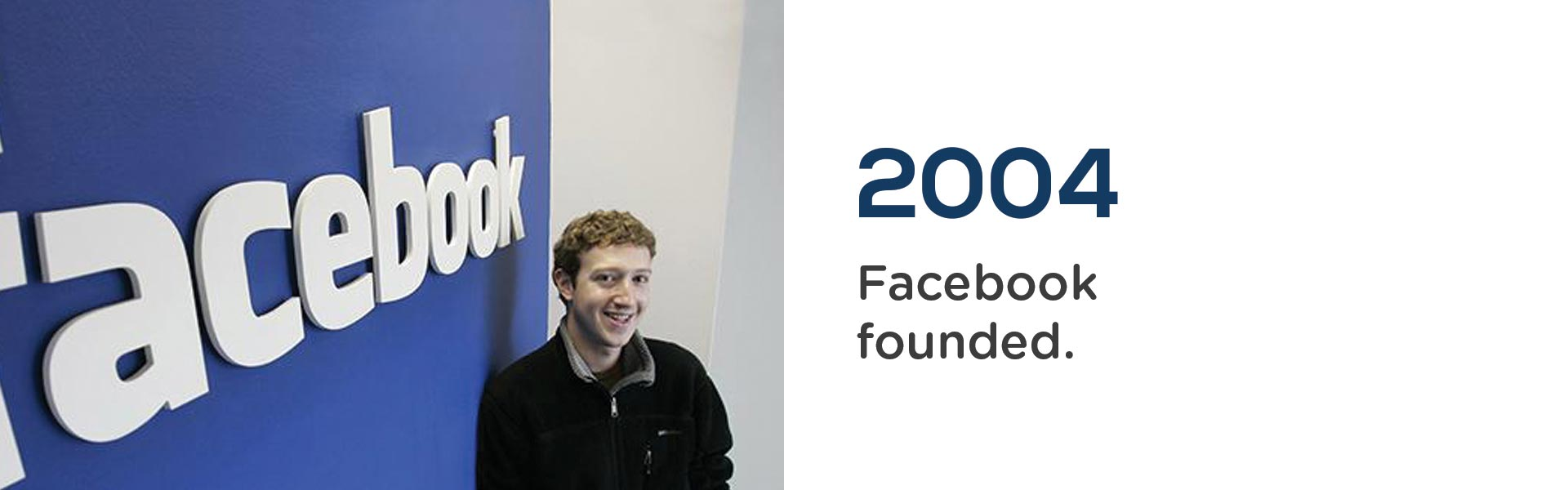 in 2004, Facebook is founded by Mark Zuckerberg.Wrigley Claydon Solicitors, Trusted for 200 years